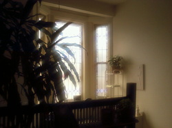 Image of waiting area at The Relaxation Point, Holistic Massage in Ithaca, NY, Joseph Karl Holmgren, LMT.